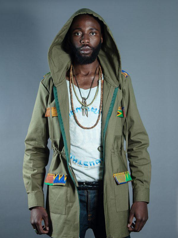 Men's Utility Parka Jacket - Khaki front