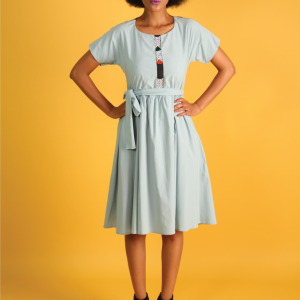 Women's Powder Blue Tea Dress